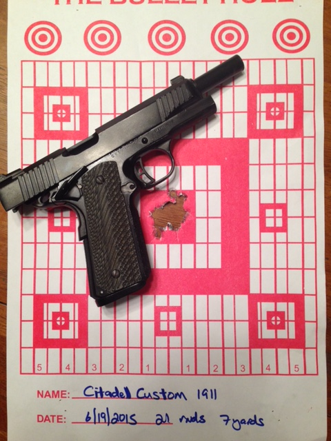 Accuracy example with a 1911